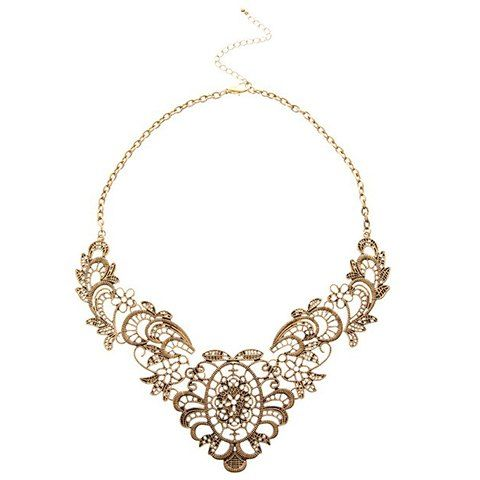 Sumptuous Retro Hollow-out Pattern Women's Necklace, COLOR ASSORTED in Necklaces | DressLily.com