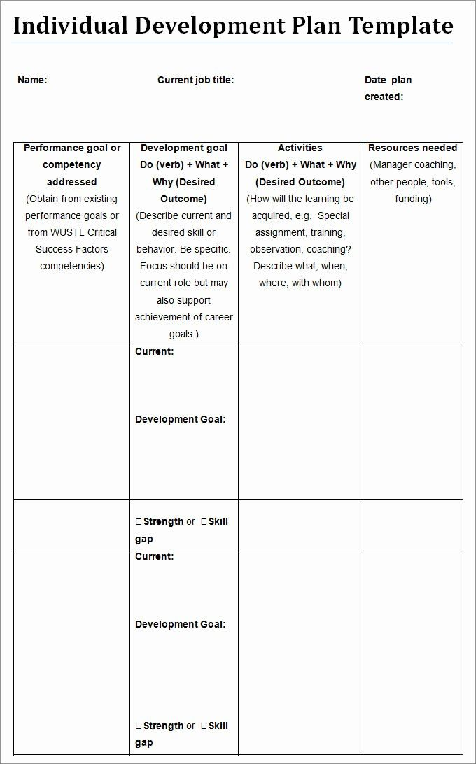 Individual Professional Development Plan Sample Best Of Individu Personal Development Plan Template Personal Development Plan Personal Development Plan Example