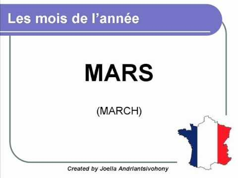 French lesson 6 - Les mois de l'année (The months of the year) Meses del año Clases de Frances