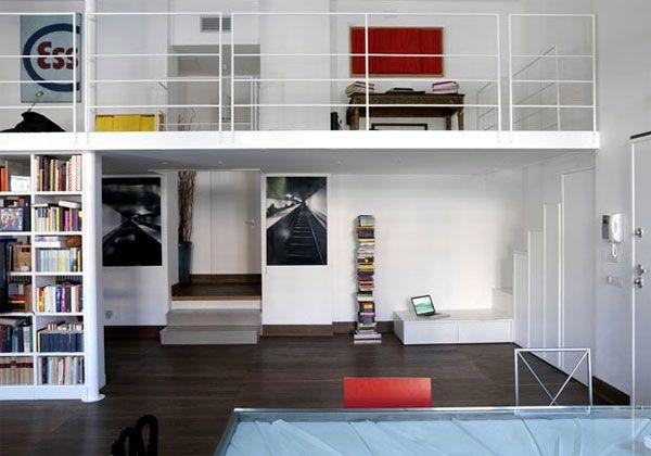 Gianicolo - Roma - Una casa-loft disposta su sette livelli interpreta le suggestioni di Giò Ponti