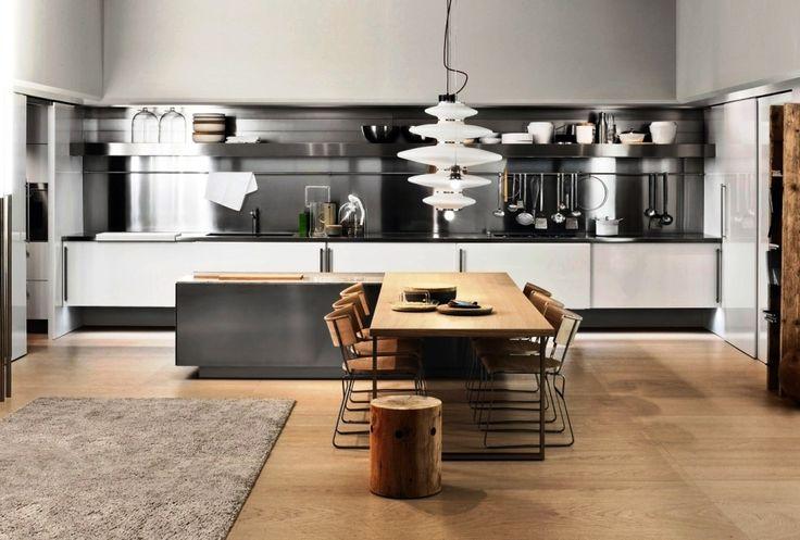 Kitchen delightful italian kitchen design with stainless for Italian kitchen set