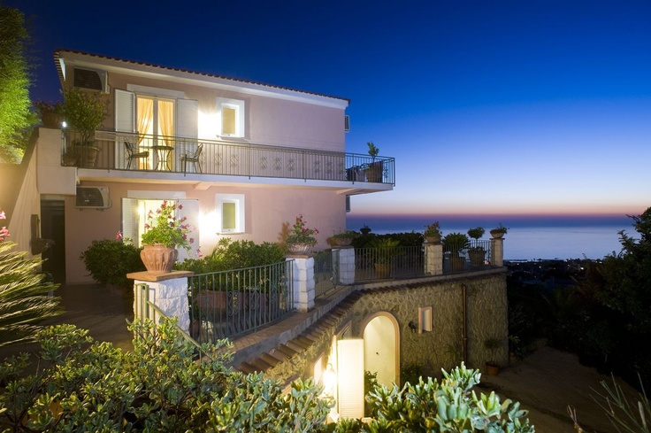 Tranquil location, Magical nights with a view of the Med over Forio, Ischia Island, Italy