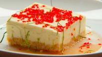 Gâteau au fromage et sirop de lime épicé