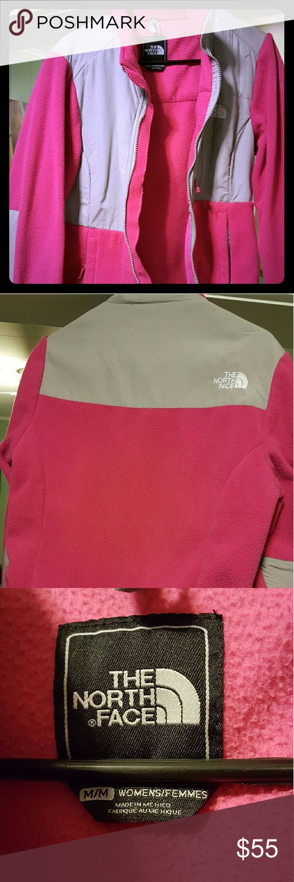 North Face fleece jacket Perfect condition pink North Face fleece jacket. Only worn a couple times. Selling it because it is too big for me. The North Face Jackets & Coats