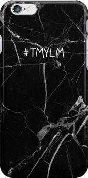Black Marble – #TMYLM phone case Snap Case for iPhone 6 & iPhone 6s