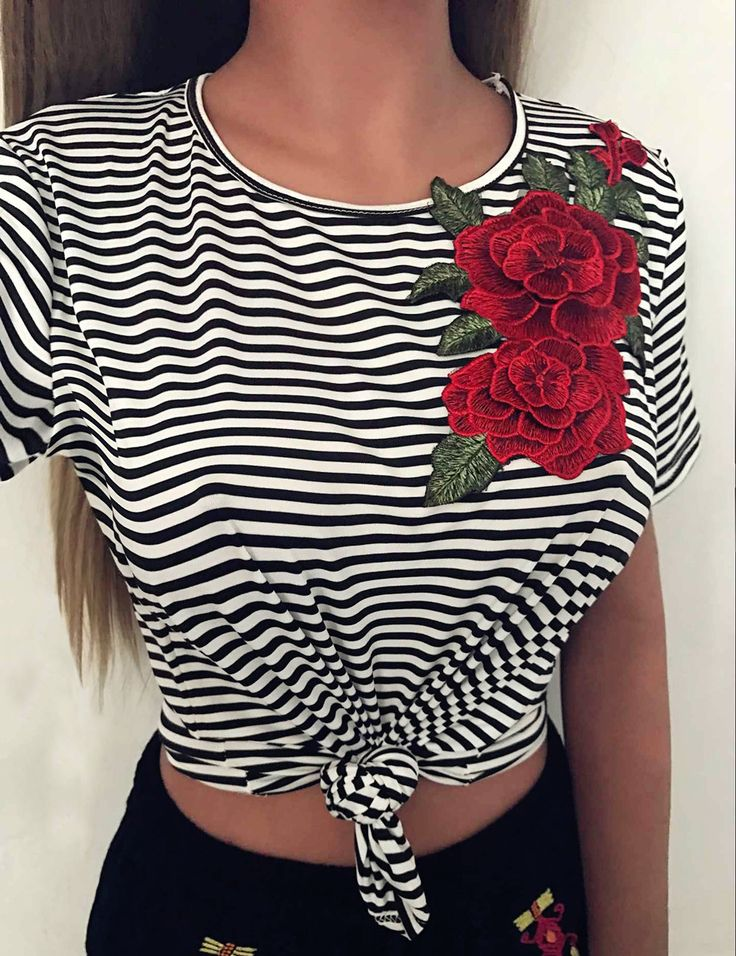 >> Click to Buy << 2017 Summer Embroidery T shirt Tops Women Loose Plus Size Stripe T Shirts Short Tee O neck Short Sleeve Blusas Girls korean Tops #Affiliate