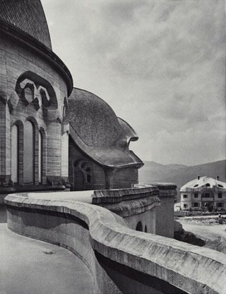 The sinuous curves of Rudolf Steiner's first Goetheanum.