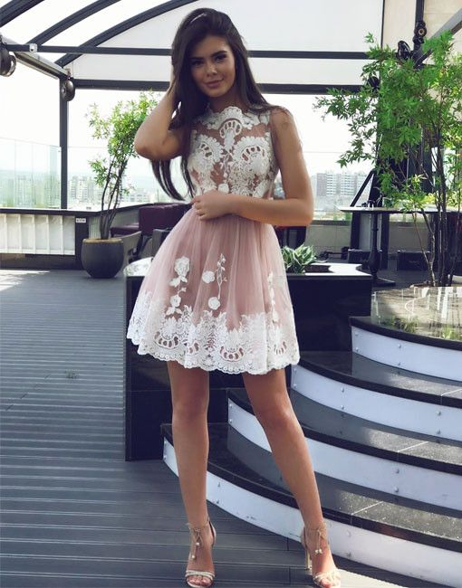 Homecoming Dresses 2017,White Lace Homecoming Dresses,Short Mini Homecoming Dresses,Elegant Homecoming Dresses, Graduation Dresses,Cocktail#SIMIBridal #homecomingdresses