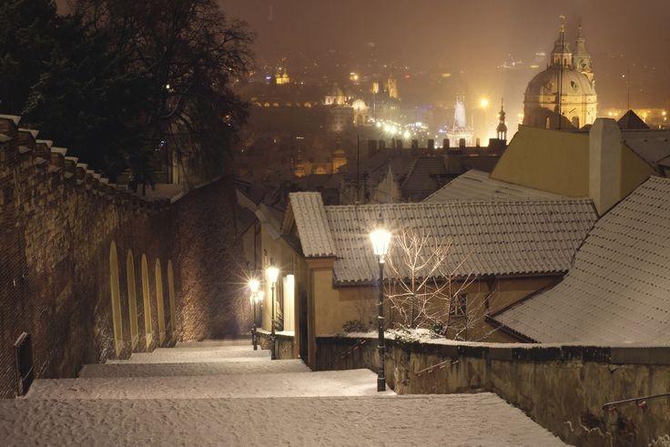 Noční procházky v zimě a klid. Autor: Lenka Rondevaldová