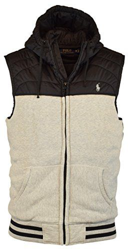 POLO RALPH LAUREN Polo Ralph Lauren Men'S Quilted Fleece Vest With Hood Jacket. #poloralphlauren #cloth #