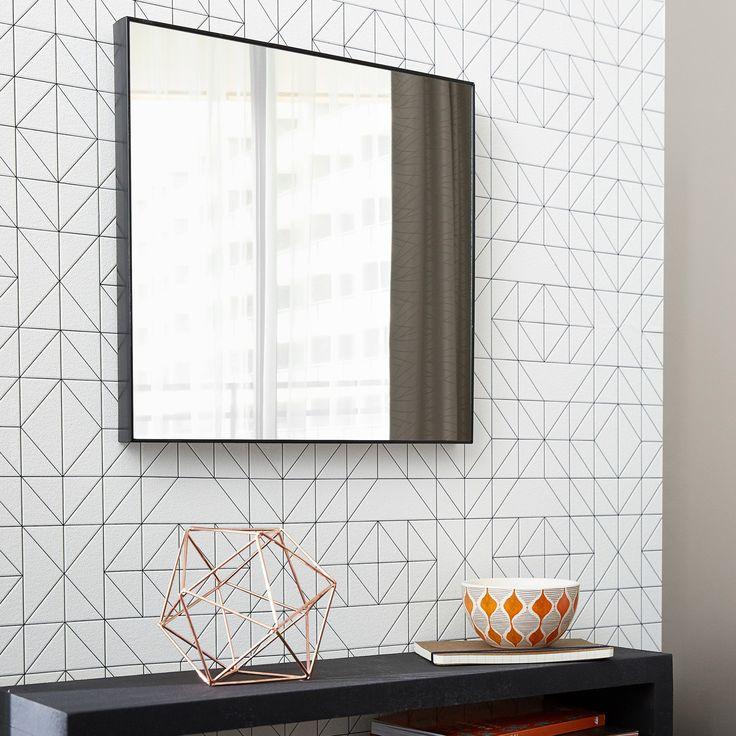 Miroir Carre Jo Noir L 30 6 X H 30 6 Cm Inspire Miroir Carre Miroir Et Decoration Maison