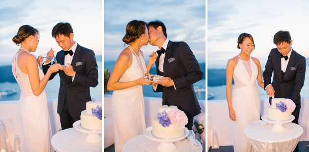 Intimate Wedding Destinations Santorini | Santorini Wedding by Stella and Moscha - Exclusive Greek Island Weddings | Photo by Anna Roussos | www.stellaandmoscha.com