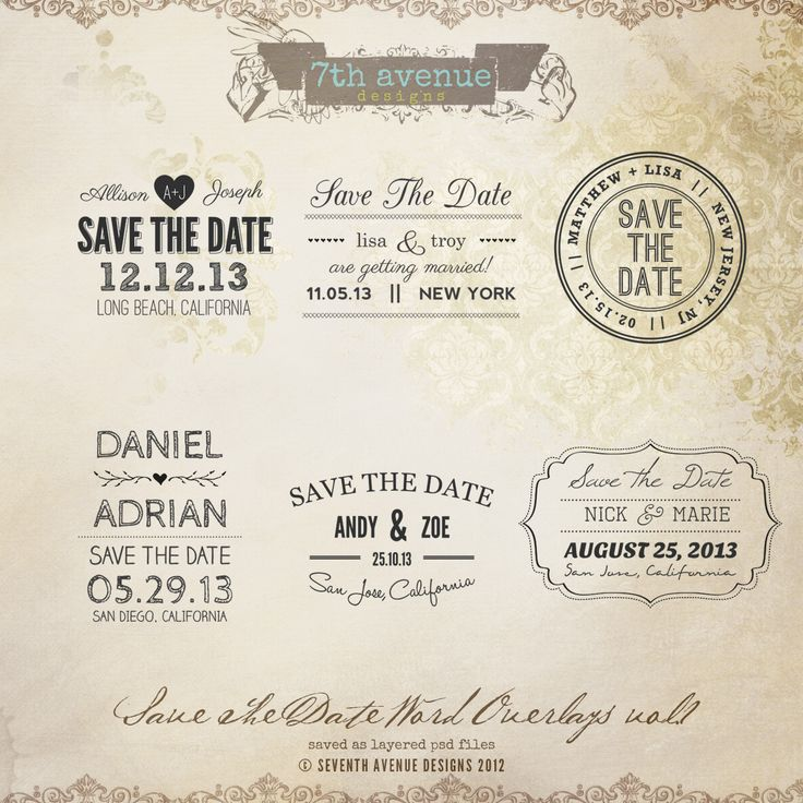 Best Save The Date Card Images On   Photoshop