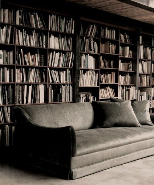 blankbook:  (via greige: interior design ideas and inspiration for the transitional home: grey in the library..)
