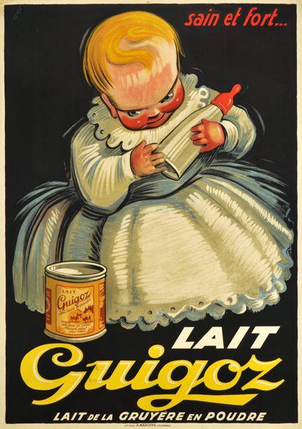 Lait Guigoz - 1930's - (Noël Fontanet) -