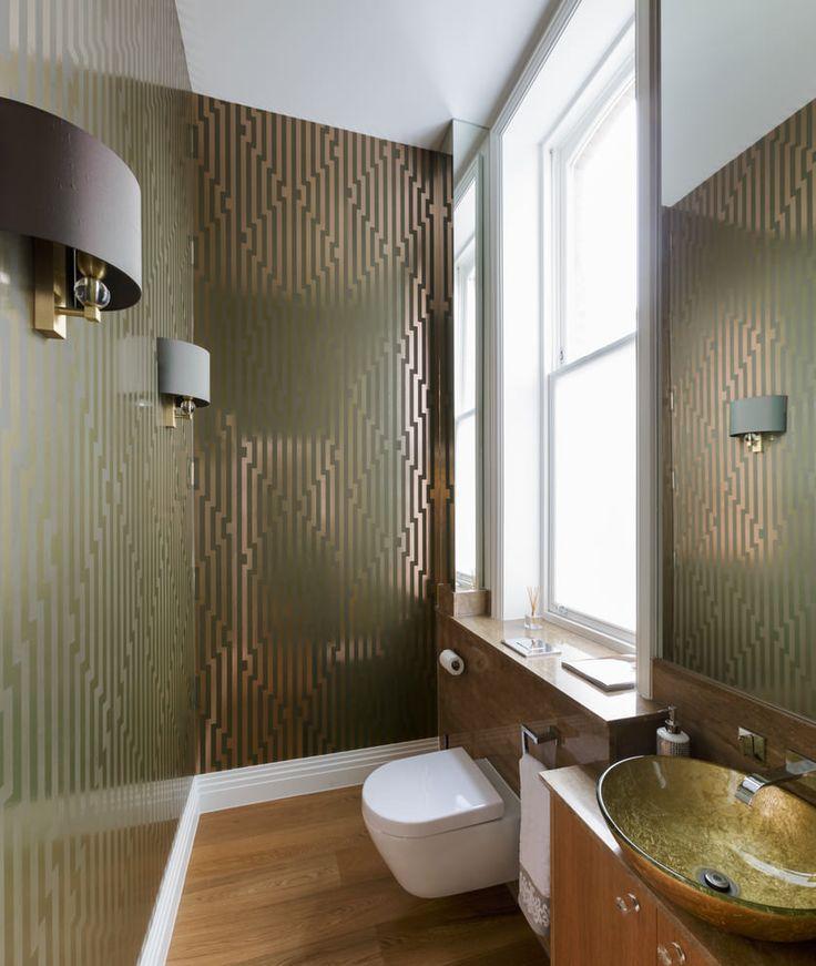Обои для ванной комнаты: плюсы и минусы, виды, дизайн, 70 фото в интерьере-6