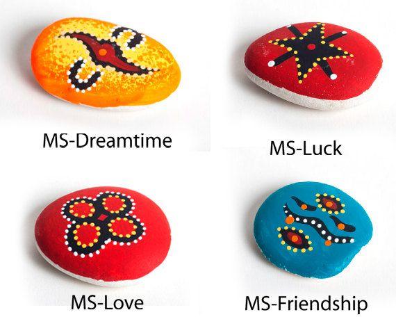 Australian Aboriginal Fine Art Message Stones by AboriginalOzArt