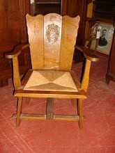 Spanish Antique Rustic Arm Chair Mission Furniture