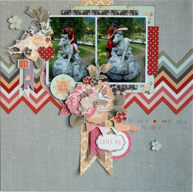 KaiserCraft - Sweet Pea layout - Hetty Hall