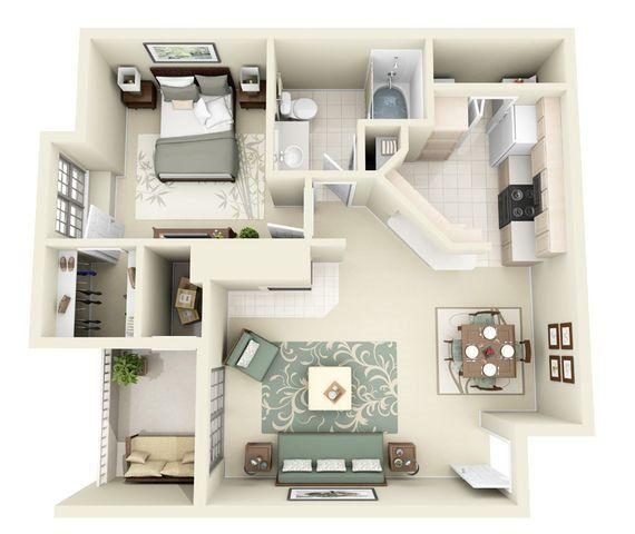 Monte Carlo 1 Bedroom 1 Bathroom Floorplan Monte Carlo 1 Bedroom 1 Bathroom Floorplan Bathroom Bedroom Carlo Flo