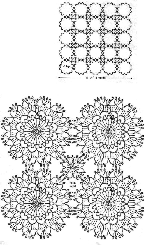 ... crochet quiroz manteles blusas aplicaciones crochet circulares