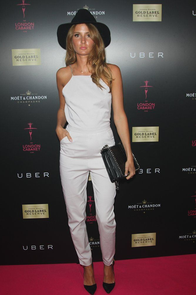 Millie Mackintosh in a jumpsuit and fedora #fashion #style
