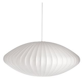Nelson Saucer Pendant Lamp. Translucent plastic allows light to flow softly and create a cozy effect