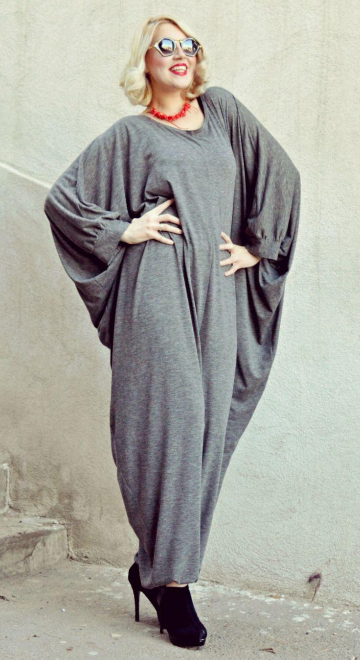 Extravagant Grey Jumpsuit / Plus Size Jumpsuit / Funky Grey Jumpsuit / Loose Jumpsuit TJ15 / SPRING 2016 by Teyxo on Etsy https://www.etsy.com/uk/listing/264077134/extravagant-grey-jumpsuit-plus-size