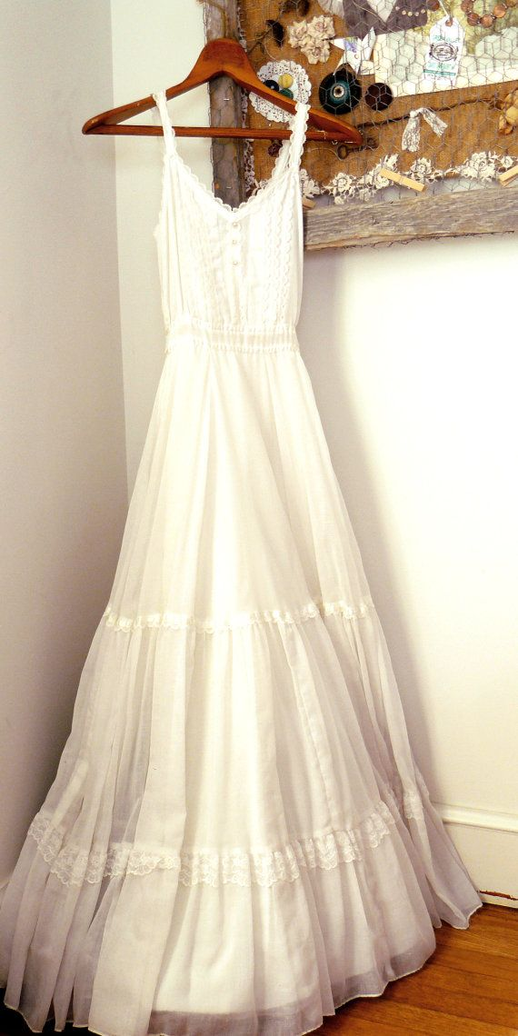 Vintage Gunne Sax Jessica McClintock Wedding Dress by turnipmims