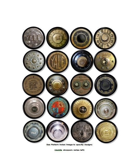 Antique Safe Dials - Dresser Knobs - Steampunk, Yale, Vintage, Rusty, Grungy, Old, Mancave, Office, Desk - Drawer Pull, Cabinet - 815Z8 $4.25 etsy