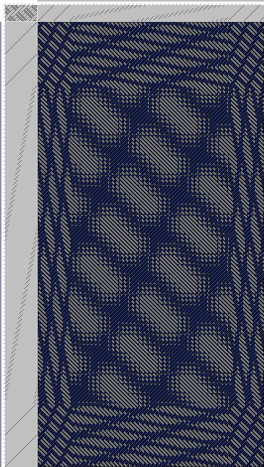 Hand Weaving Draft: Inouye Bonnie, advancing 5, 12778: Tie-up from Old German Book, draft 12778, Bonnie Inouye, 16S, 32T - Handweaving.net Hand Weaving and Draft Archive