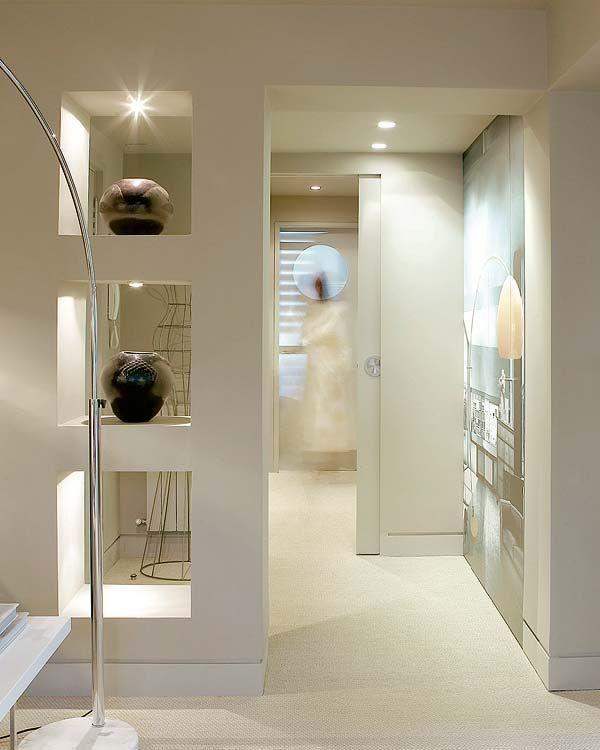 Resultado de imagen de diseños salones cocinas con columnas en medio