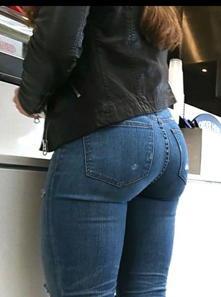 Girls butts in jeans stand out 7