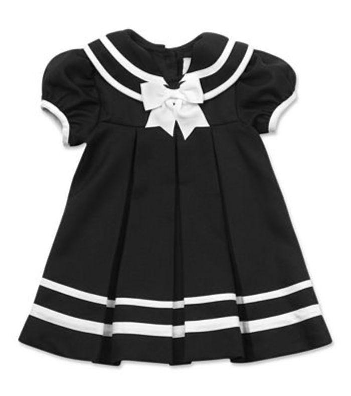 $12 Rare Editions Navy/White Sailor Baby Dress