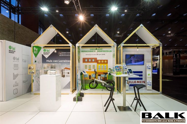 Booth houses by Tailormate with BALK connectors / couplings / joints / fittings / corner pieces for wooden beams.