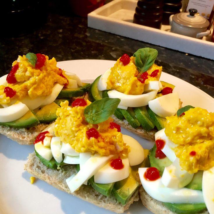 Djevel egg med avokado og chilli – gladkokken