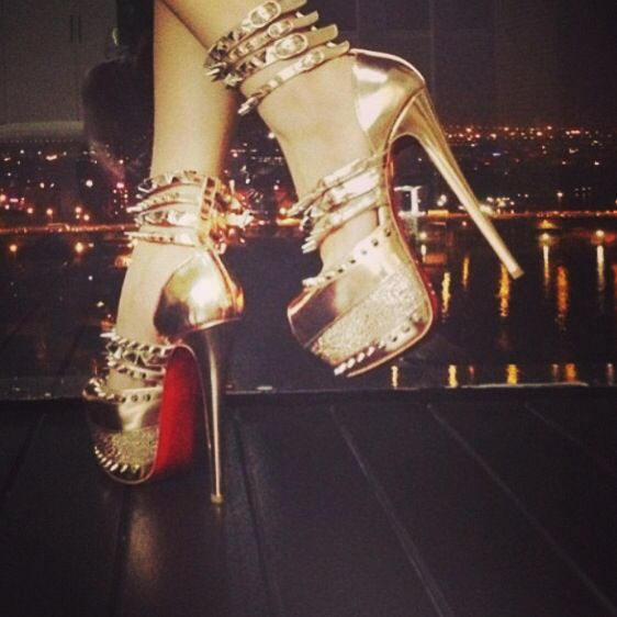 #ChristianLouboutin limited edition shoes ! A fabulous choice!!!