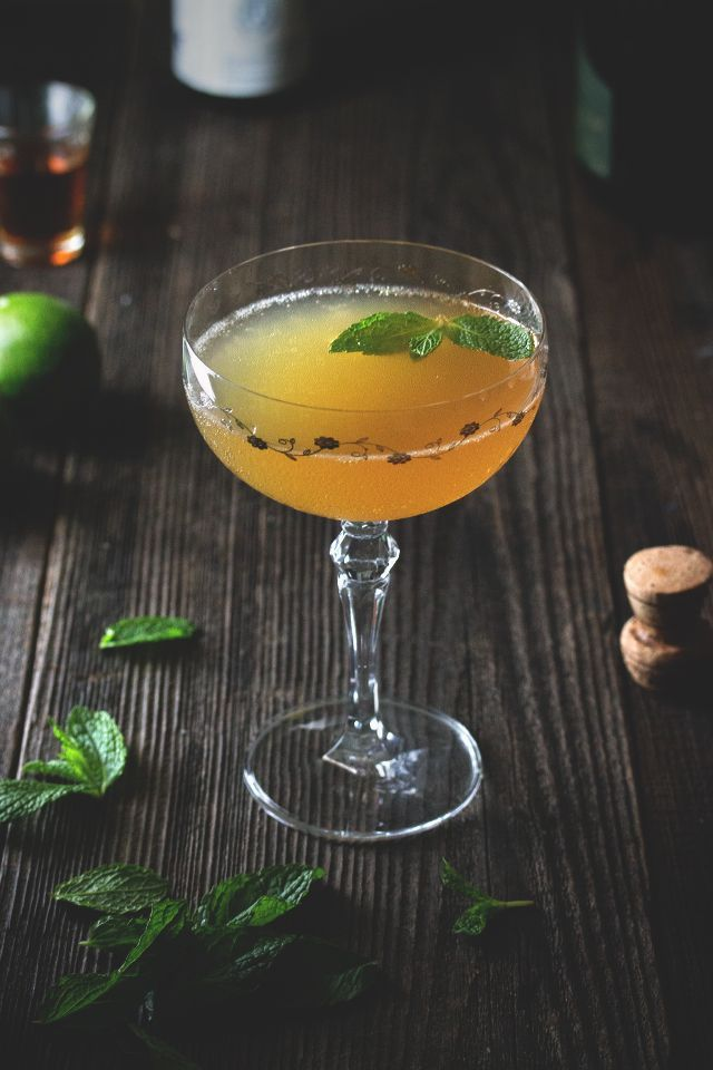 Even on a crisp, blustery autumn evening there's always time for a rum cocktail or two at my house. The Old Cuban is an elegant, and dare I say sophisticated libation, created by Audrey Saunders of Pegu Club fame. Sweet and sour notes are celebrated in a way that rum fans knows and love. Some