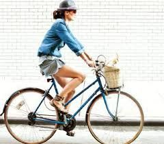 Image result for woman on bike