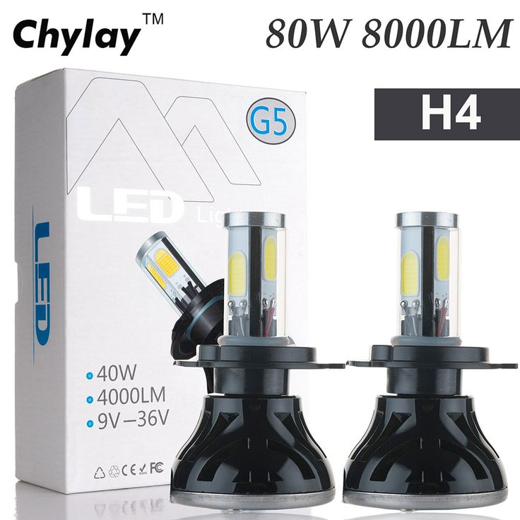 ==> [Free Shipping] Buy Best 2x All in One Led Lamp h4 80W 8000LM 4 COB H7 H11 9005 H10 9006 for Automotive Headlight Fog bulb xenon white Car Light Online with LOWEST Price | 32796530222