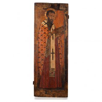 Icona russa antica S. Basilio il grande XVI sec. Iconostasi | vendita online su HOLYART
