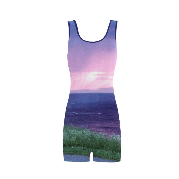 Purple Rain Classic One Piece Swimwear.