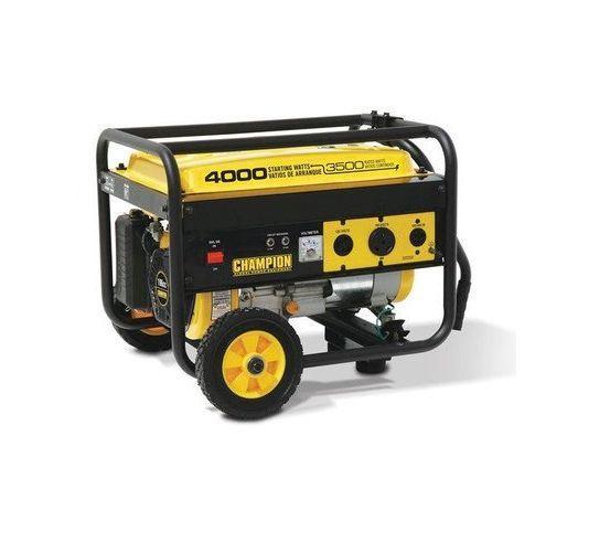 Portable Diesel Generator 4000 Watt Power Eqiupment Wheel Kit Rv Camping Powered #ChampionPowerEquipment