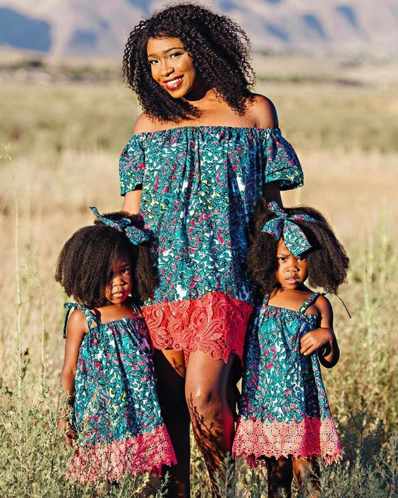 366abc201c Matching Ankara Styles for Mothers and their Daughters | Mother and  Daughters Ankara Styles | African fashion dresses, African Fashion, Fashion  dresses