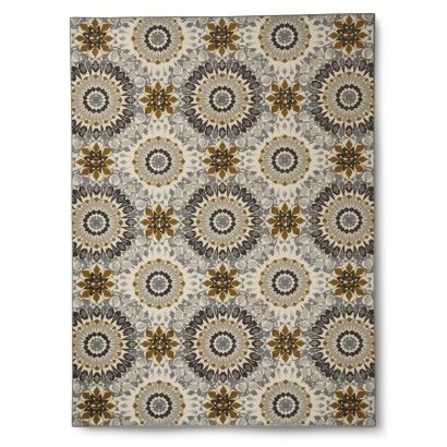 Add A Gorgeous Mix Of Neutral Colors That Match Any Living Space With The Threshold Kaleidoscope Rug Delightful Gray Gold And Ivory Medallion Pattern On