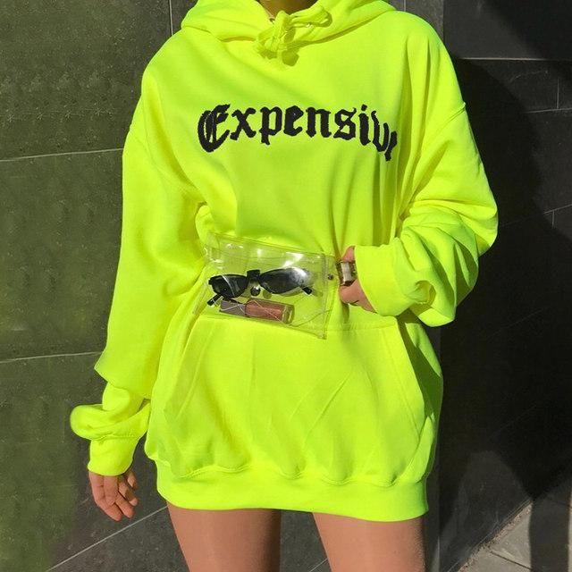 f13cc745d56c Neon Expensive oversize baggy hoodie sweatshirt in 2019