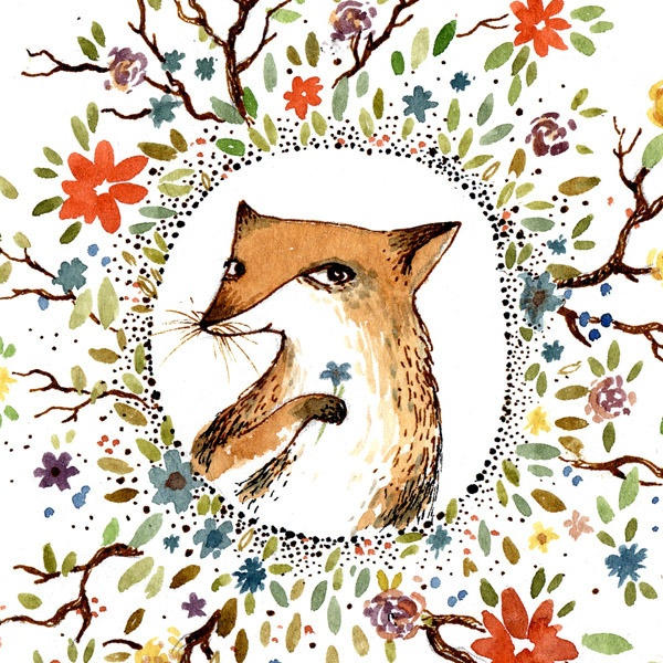 flowers for foxy http://www.chirply.comRomantic Foxes, The Artists, Foxes Illustration, Foxy Foxes