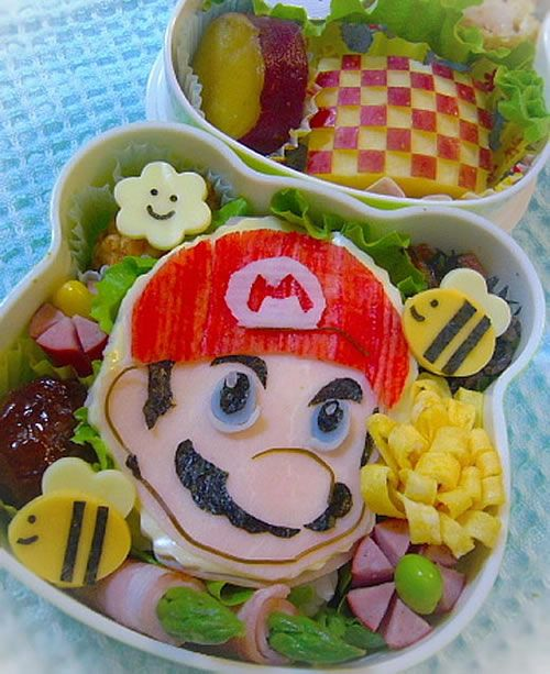 Mario bento & 63 best Bento Box Art images on Pinterest | Bento box Box art and ... Aboutintivar.Com
