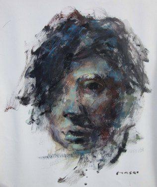 "Saatchi Online Artist Masri Hayssam; Painting, ""Fatima"" #art"