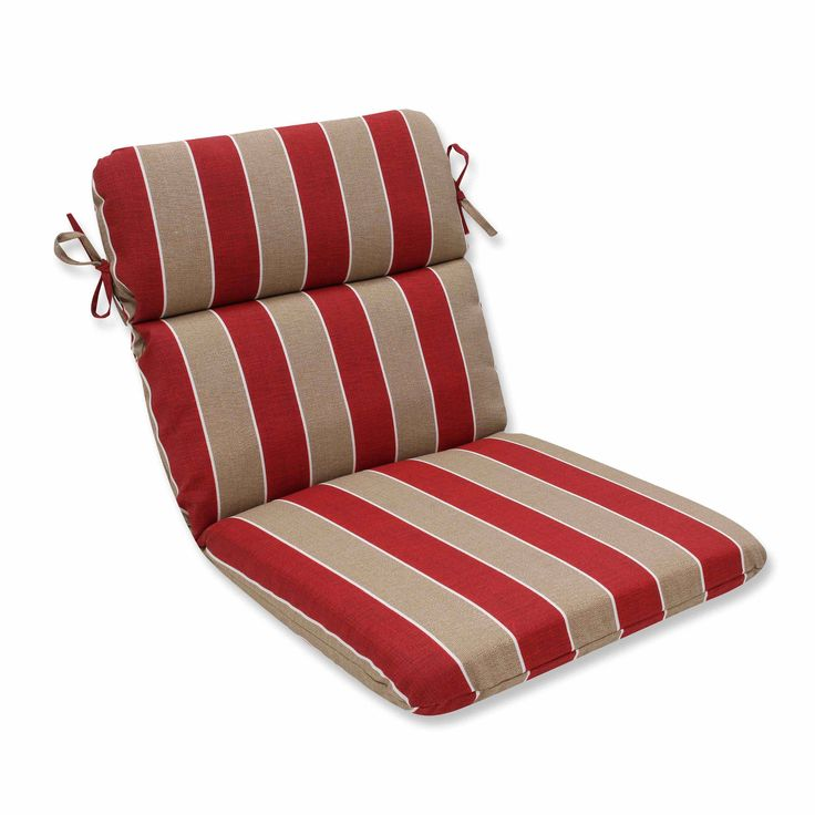Pillow Perfect Outdoor/ Indoor Wickenburg Cherry Rounded Corners Chair Cushion